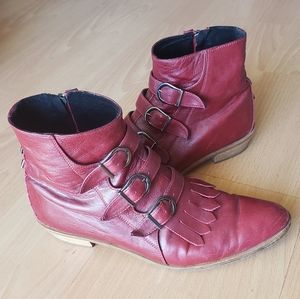 Modern Vice oxblood red Jett boot 39 8.5 9